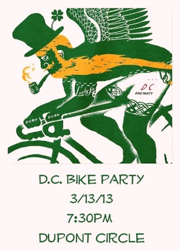 DCBP St. Pattys Day Ride Poster