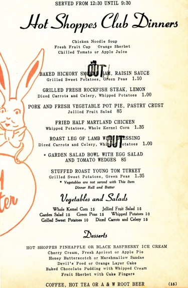 Hot Shoppes menu Easter 1946 02