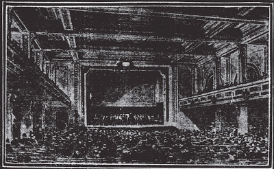 Masonic Temple auditorium sketch 1905