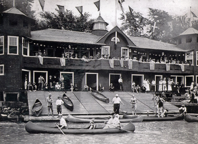 Washington Canoe Club at regatta time