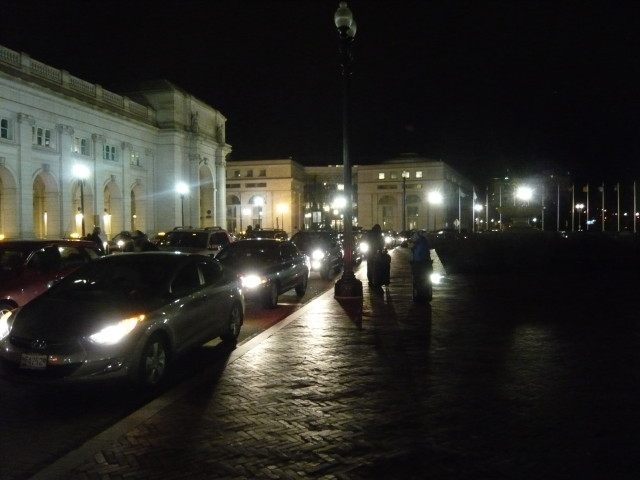 Cars at Union Station- Packed