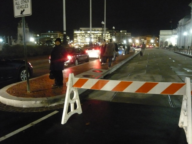 Three Bus Lanes Blocked