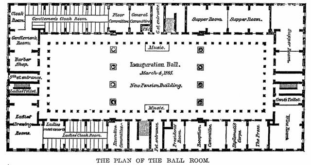 1885-03-03 Plan of the Ball Room (Star)