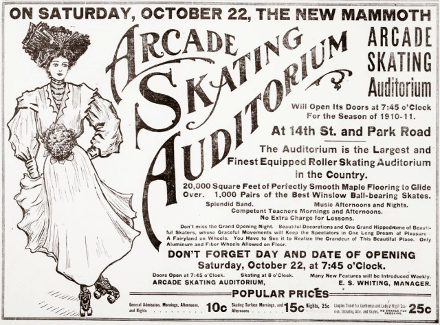 Arcade Skating Auditorium 10-1910