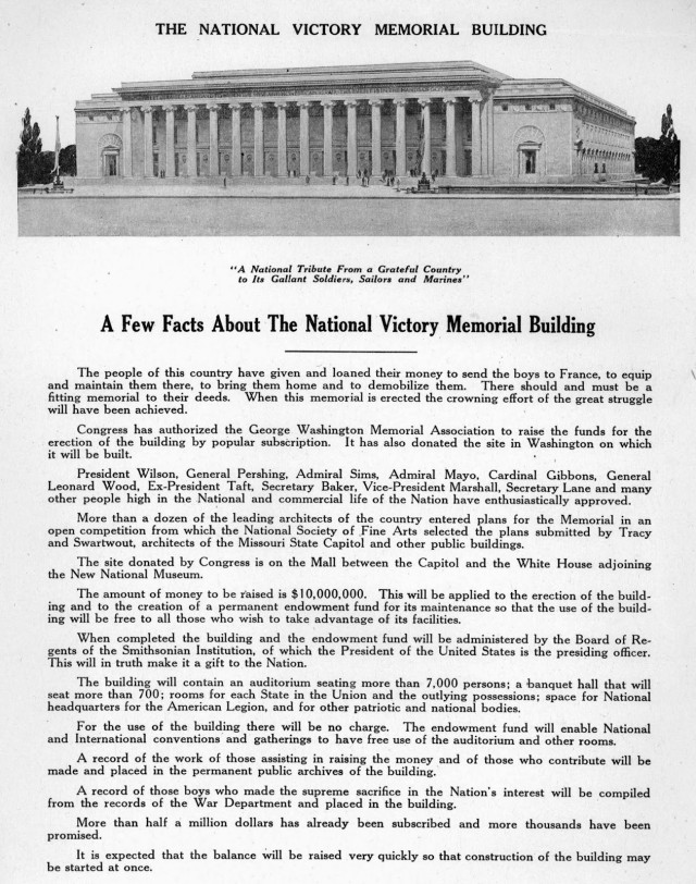 1919 A Few Facts about the National Victory Memorial Building (LOC)
