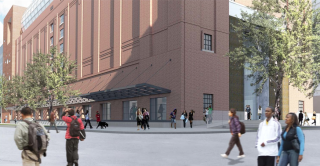 """4th and D Streets – revised to include """"open"""" loading doors and open framed canopy"""