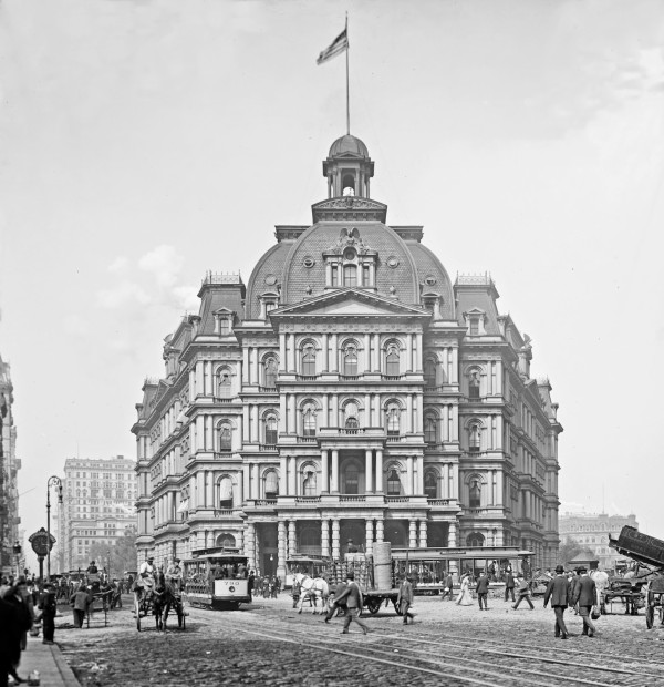New York City Hall c 1905 4a20812u detail