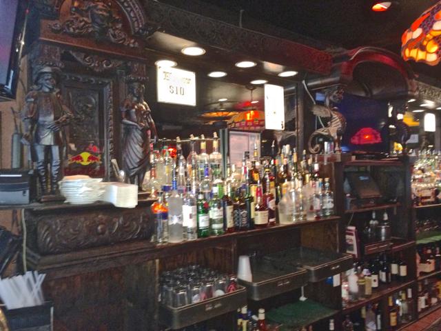 antique oak bar