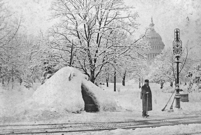 Snow possibly from blizzard of 1888 3c09361u