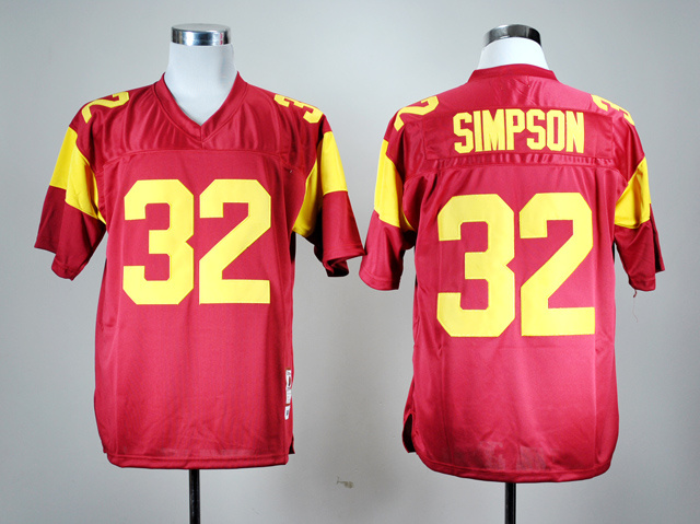 USC Trojans O.J. Simpson 32 Red College Football Throwback Jersey