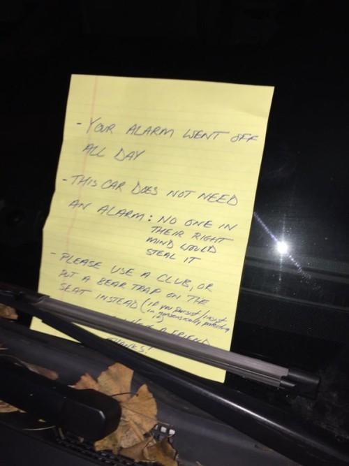 note car
