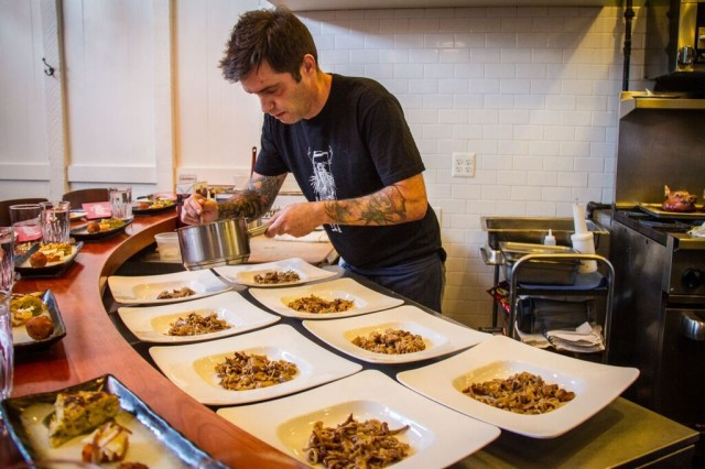 Chef Vallcorba at ANXO Pop up Crane and Turtle - Skeiky
