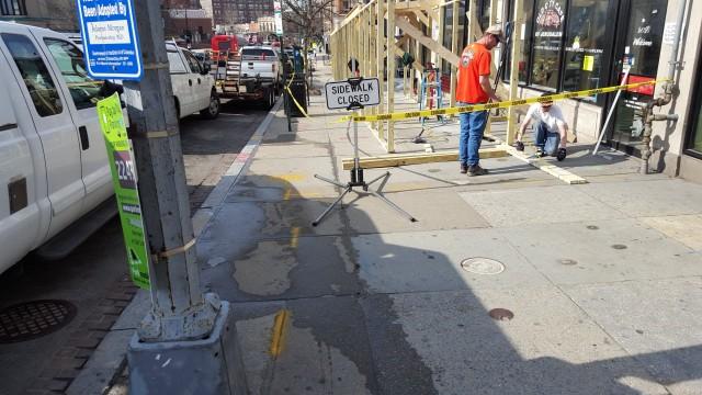 Colunbia Road Sidewalk Closing 1