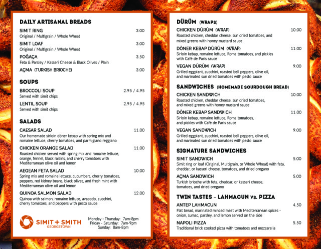 Simit + Smith Menu 02