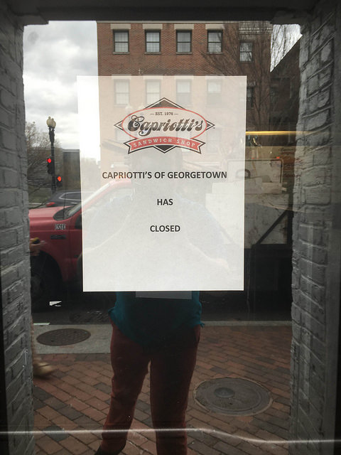 capriotti's closes