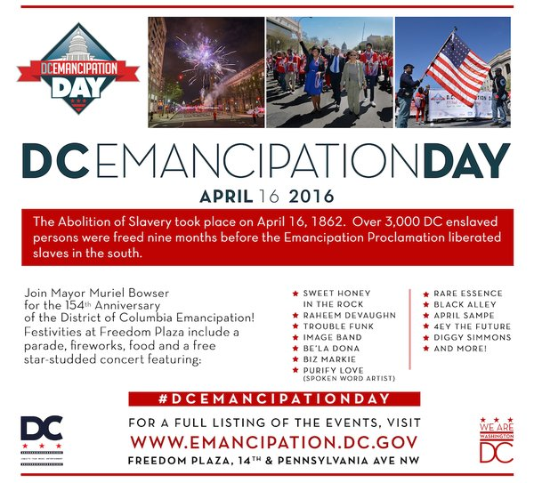 dc emancipation apr 16