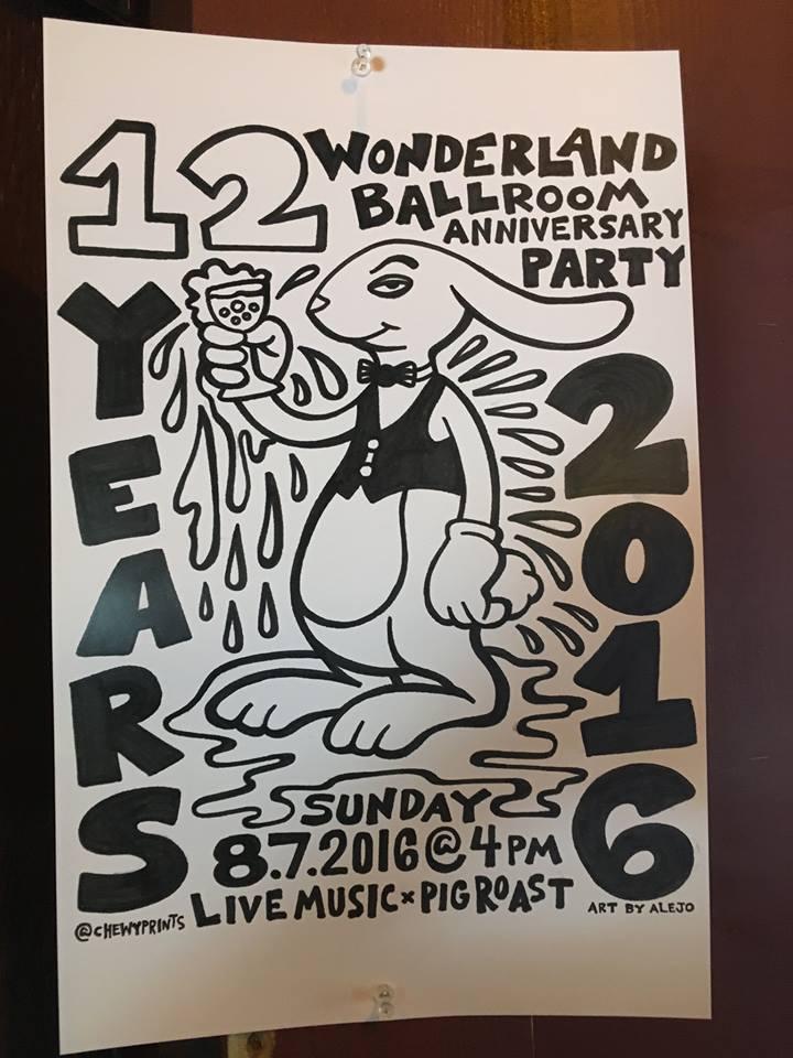 Wonderland 12 year party Sunday