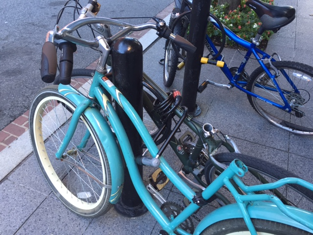 blue bike lock