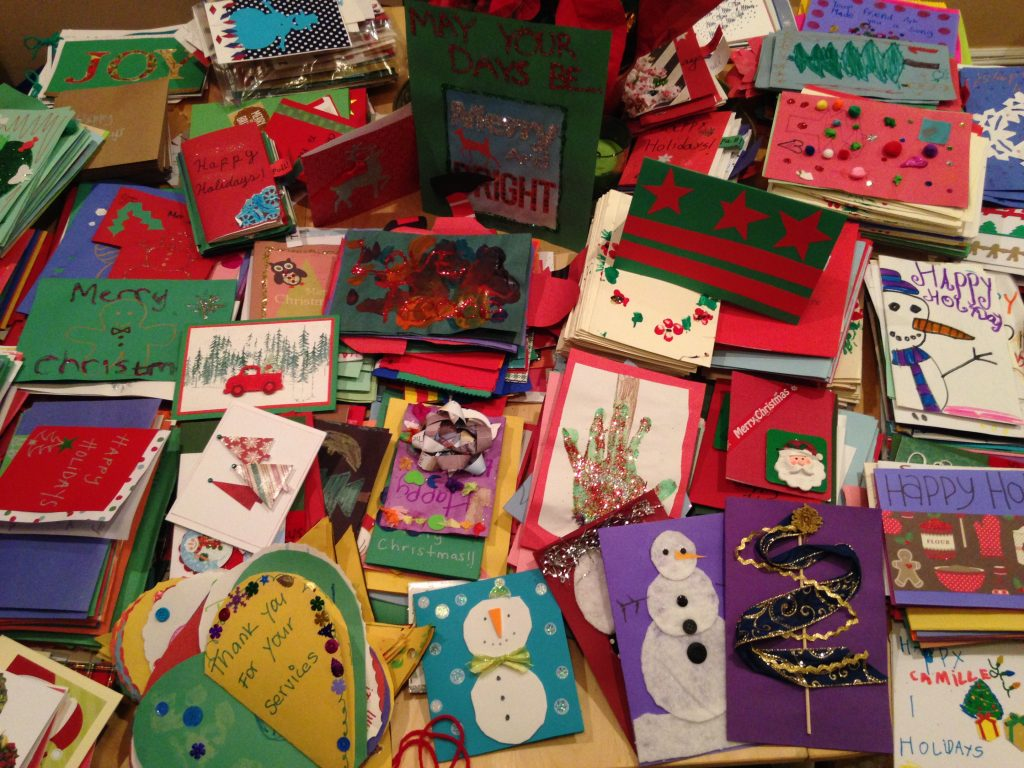 popville 6th annual card drive for the old soldiers home armed
