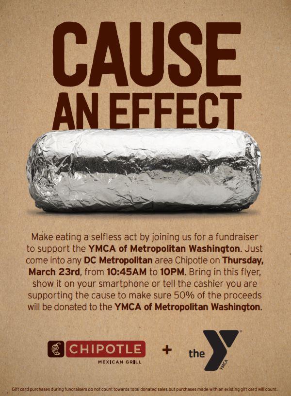 YMCA Fundraiser Flyer