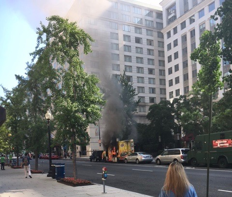 Metro Center Food Truck Fire