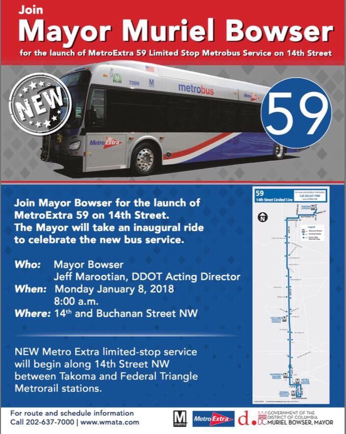 PoPville » MetroExtra 59 Express Bus Launched on 14th Street
