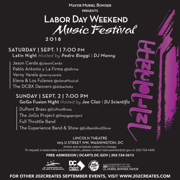 Popville Mayor Muriel Bowser Presents Labor Day Weekend Music Festival