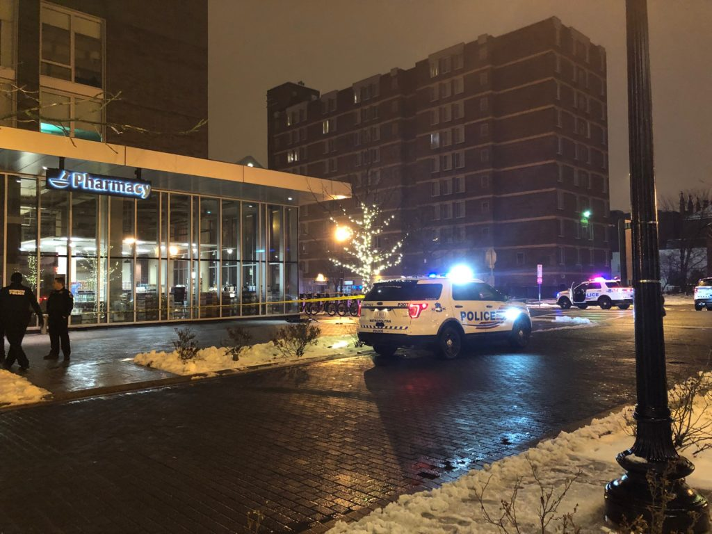 """11pm Shaw: """"MPD is hunting for shell casings in the snow."""""""