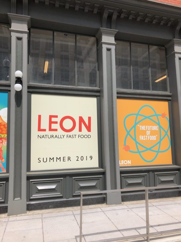"""Coming Soon Signage Posted for LEON """"Naturally Fast Food"""" in Mount Vernon Square"""