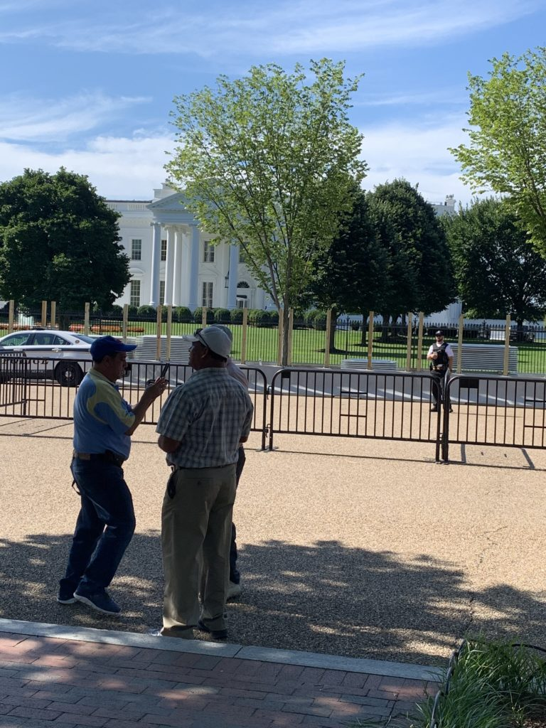 """""""Pennsylvania Avenue will be closed from West Executive Avenue to East Executive Avenue for public safety during construction of the new fence."""""""