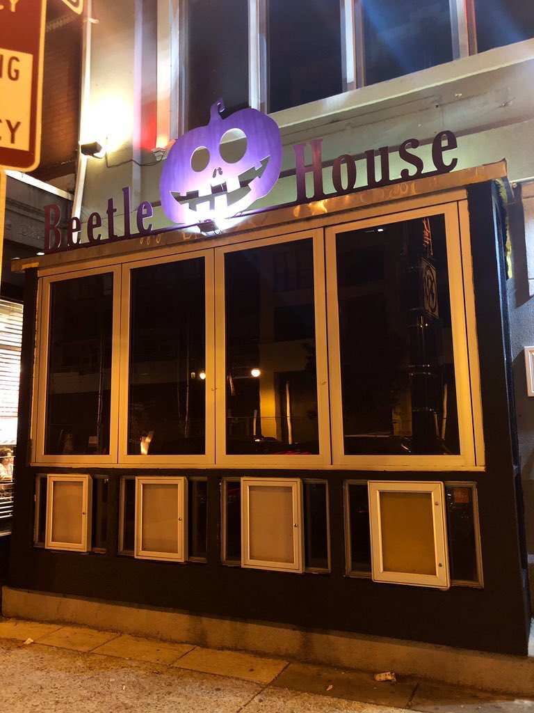 """Beetle House is a restaurant and bar that pays tribute through food and drink to all things dark and lovely"""