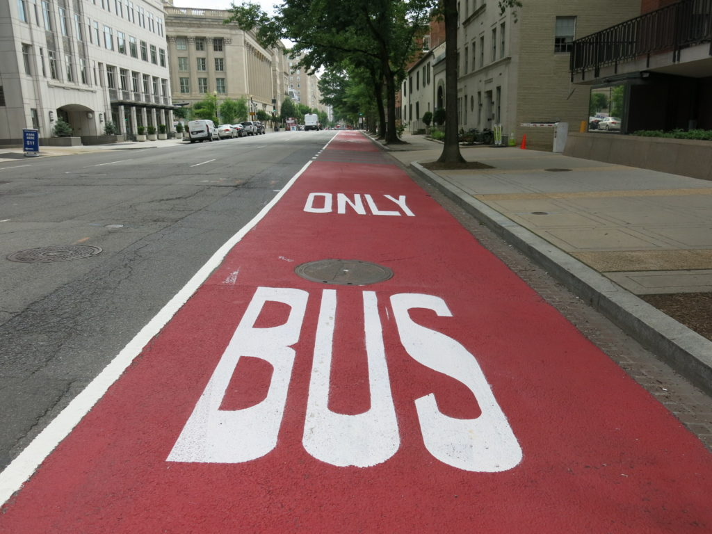 """""""H & I Streets NW Bus Lanes to be Permanent Effective 11/12"""""""