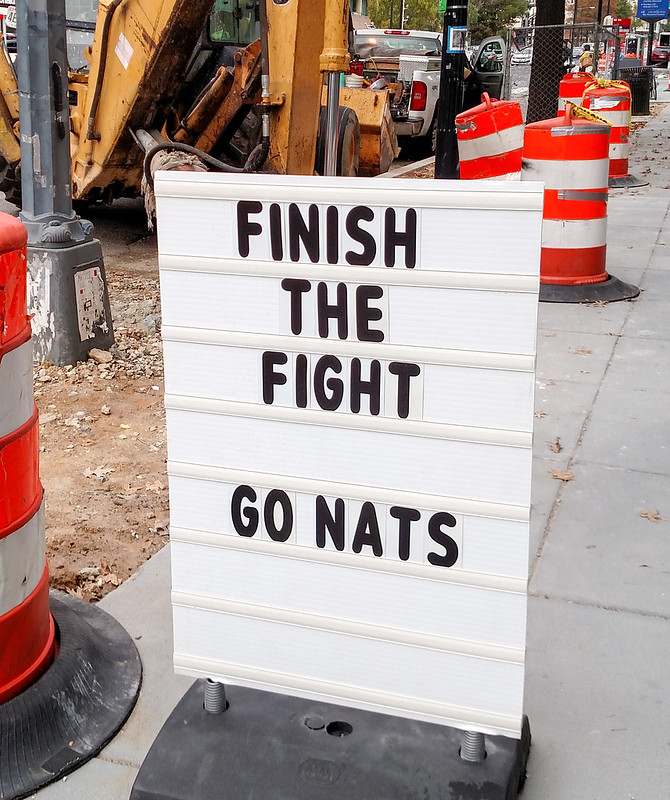 I am not as hungover as I thought I'd be - GO NATS!!!