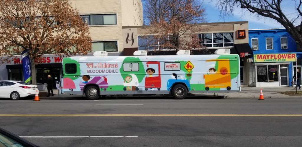 """Can we talk about the Children's Bloodmobile?"""