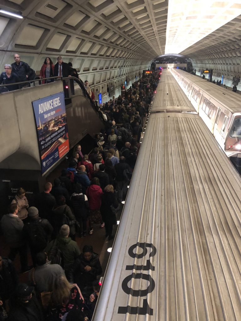 """""""WMATA reports train service has been suspended between Van Ness and Dupont Circle Metro station due to fire activity at Woodley Park."""" thumbnail"""