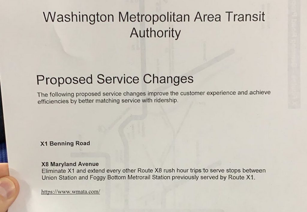 Current WMATA Survey About Proposed Service Changes and Fare Changes
