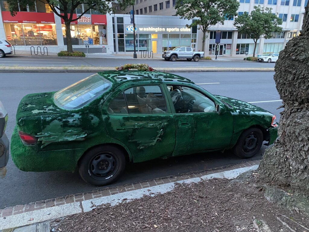 The AstroTurf Car Still Kicking! But Looking a bit rough around the edges